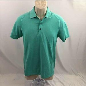 Lululemon Mens Polo Shirt Mint Green Knitted Small